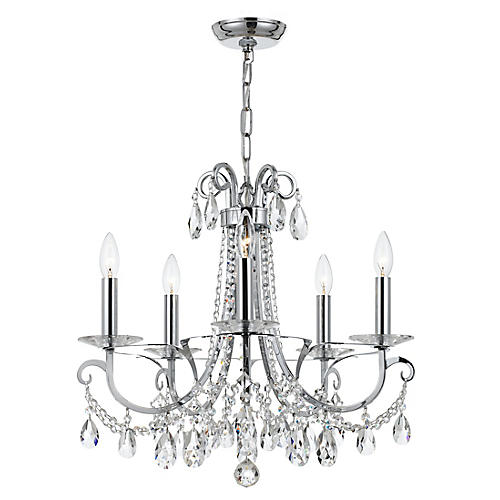 Othello 5-Light Mini Chandelier, Crystal