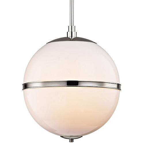 Truax 3-Light Pendant, Nickel/Frosted