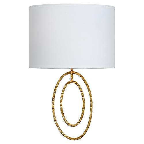 Layla 2-Light Sconce, Antiqued Gold