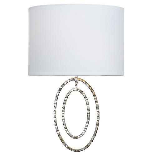Layla 2-Light Sconce, Antiqued Silver