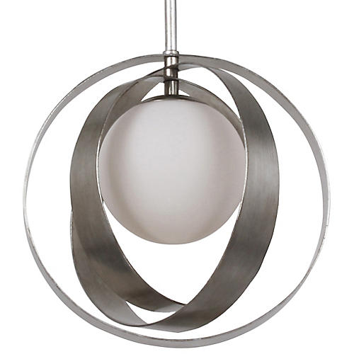 Arlo Mini Pendant, Silver/White
