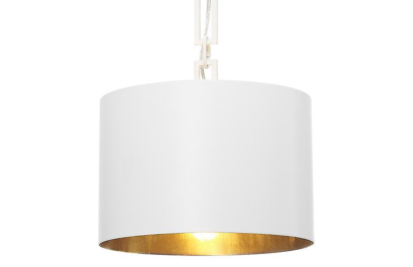 Alston Pendant, Matte White/Gold