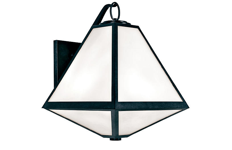 Glacier Outdoor 3-Light Sconce, Charcoal