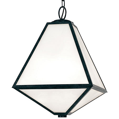 Glacier Outdoor 3-Light Chandelier, Charcoal