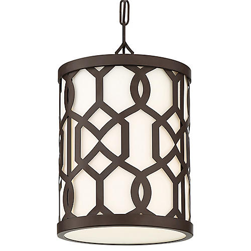 Jennings Outdoor Pendant, Bronze/Frosted