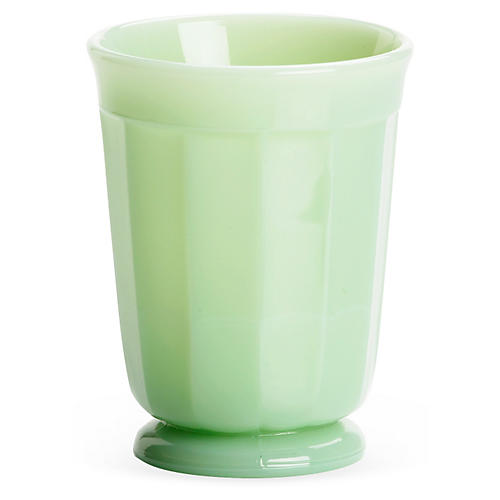 S/4 Glass Panel Tumblers, Jadeite
