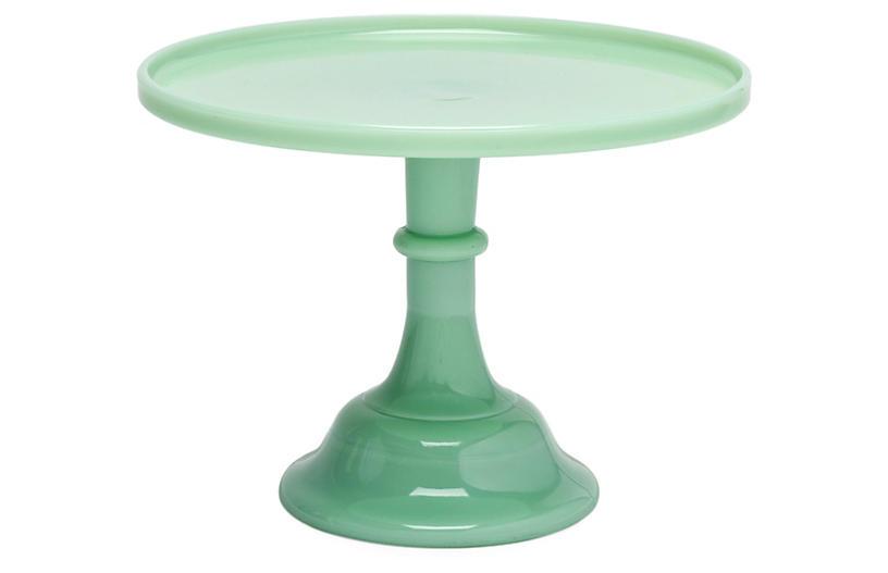 Cake Plate - Jadeite - Mosser Glass