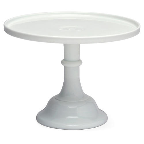 Cake Plate, Milk Glass