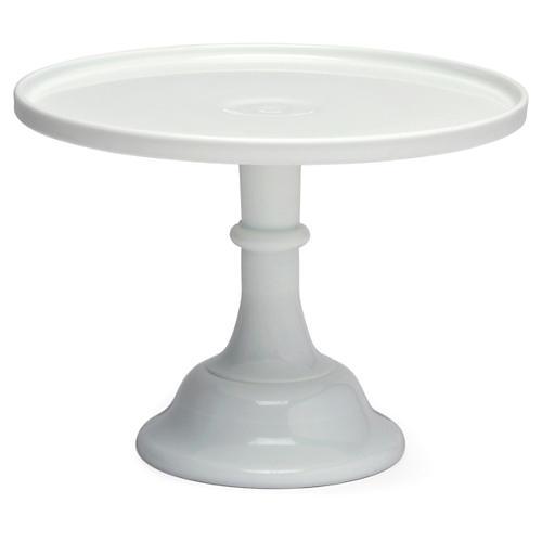 Cake Plate, Milk Glass