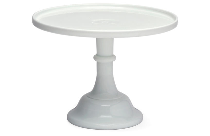 Cake Plate - Milk Glass - Mosser Glass