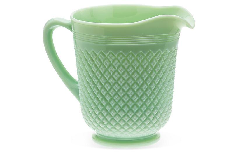 Addison Glass Pitcher, Jadeite