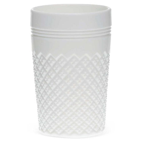 S/4 Addison Tumblers, Milk Glass