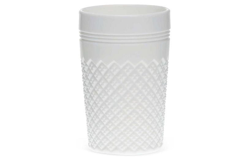 S/4 Addison Tumblers, Milk Glass