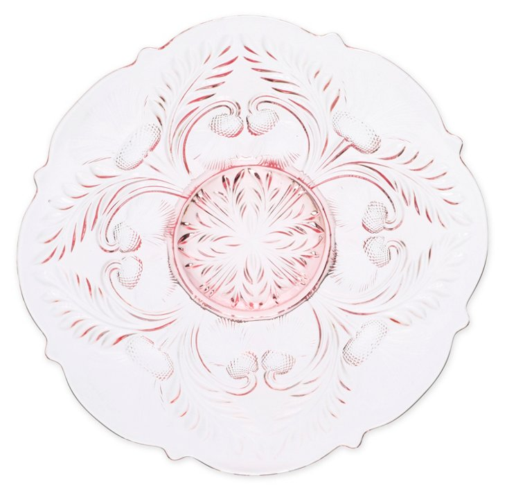 Inverted Thistle Platter, Rose