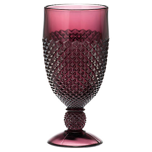 S/4 Addison Goblets, Amethyst