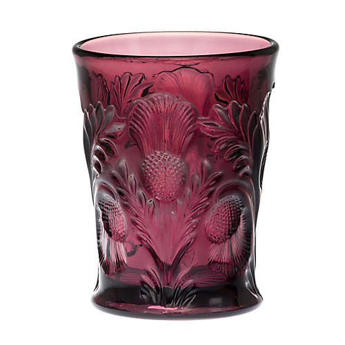 S/4 Inverted Thistle Glasses, Amethyst