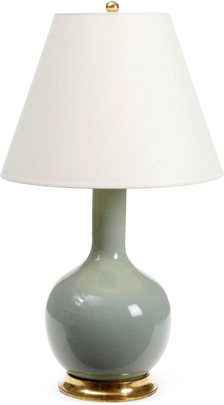 Medium Single Gourd Lamp, Duck Egg