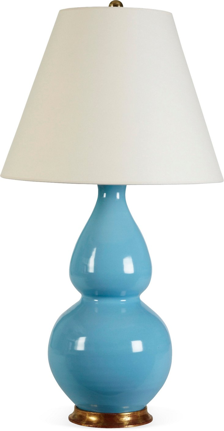 Medium Double-Gourd Lamp, Light Blue