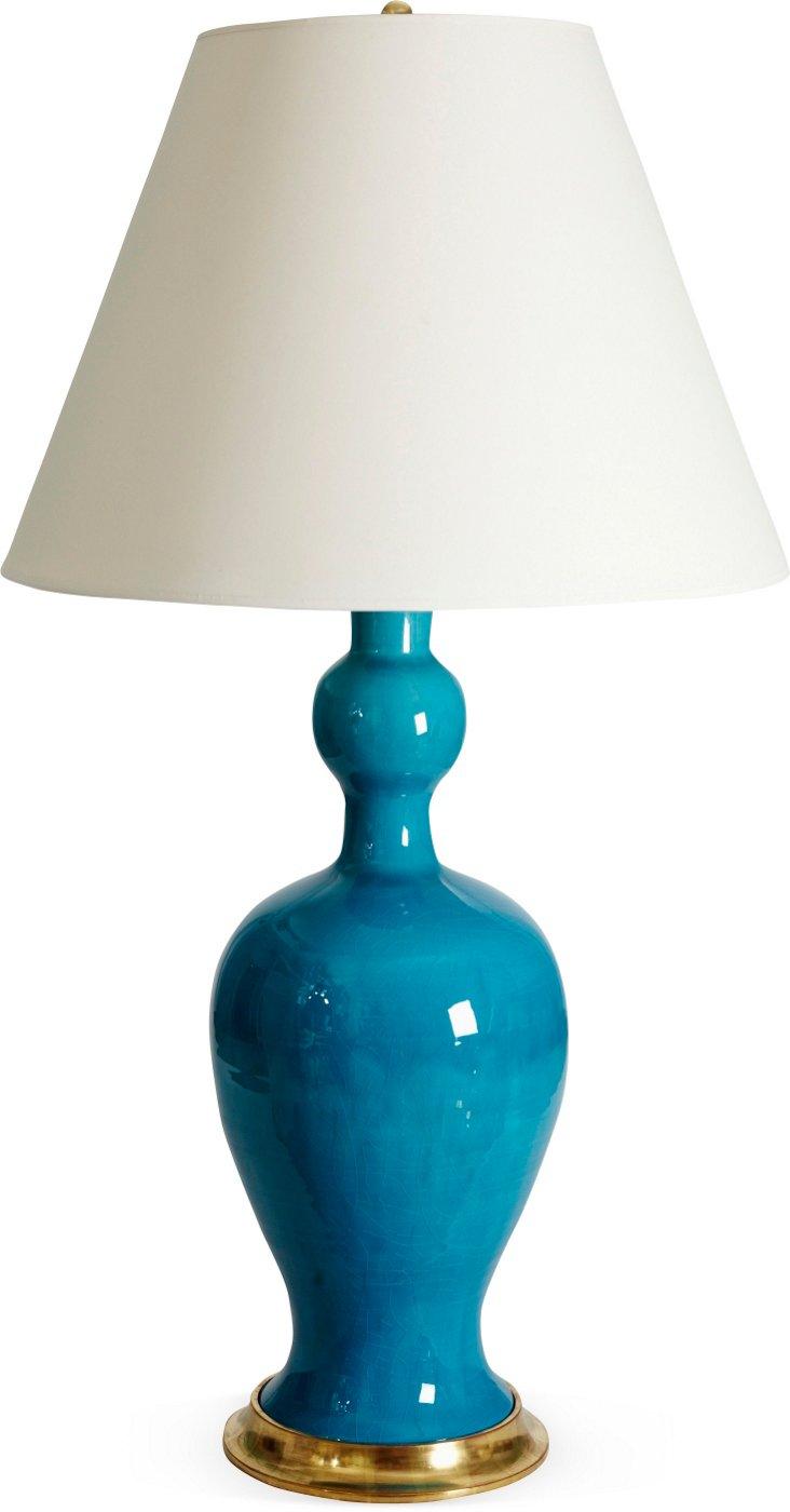 Marjorie Lamp, Water Blue Crackle