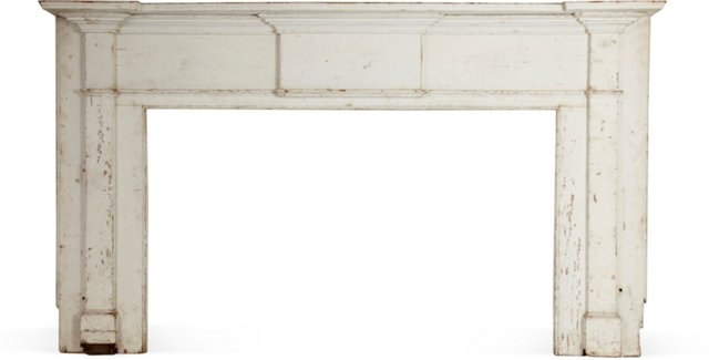 Antique White Mantel