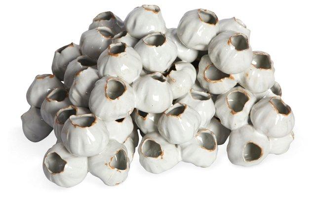 White Barnacle Vase