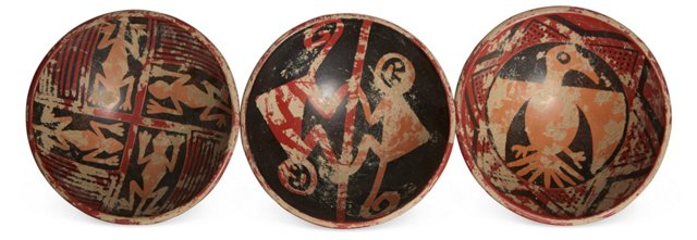 Pre-Columbian-Style Bowls, Set of 3
