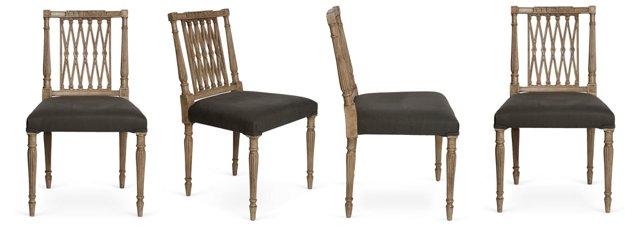 Swedish Dining Chairs, Set of 4