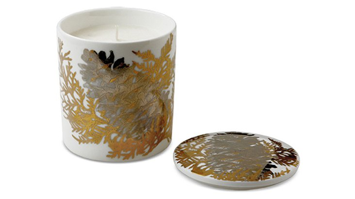 Aspen Pinecone Candle, Gold
