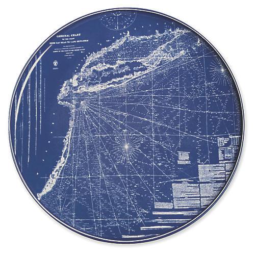 """Chart Eastern Seaboard Platter, 12.5"""""""
