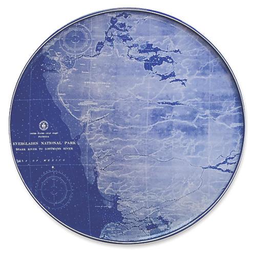 """Chart Everglades Platter, 12.5"""""""