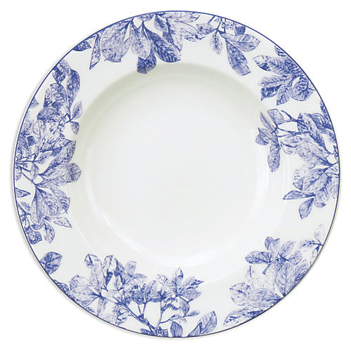 "Arbor Blue Rimmed Soup Bowl, 9"""