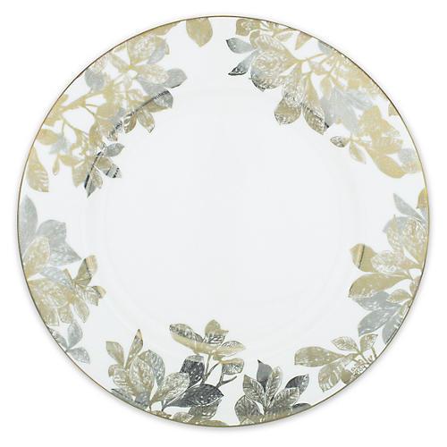 "Arbor Gold/Platinum Dinner Plate, 11"""