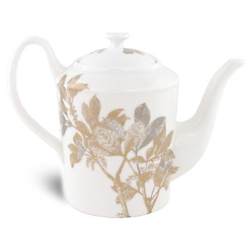 Arbor Gold/Platinum Teapot, 40 Oz