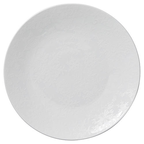 S/4 Winter Canapé Plates, White