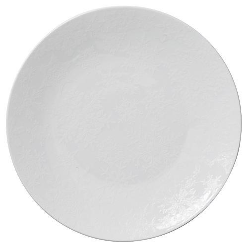 S/4 Winter Canapé Plates, White