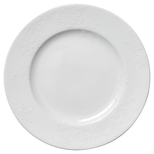 """Winter White Dinner Plate, 10.75"""""""