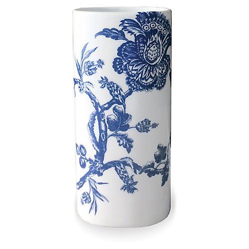 """7"""" Arcadia Bud Vase, White/Blue"""