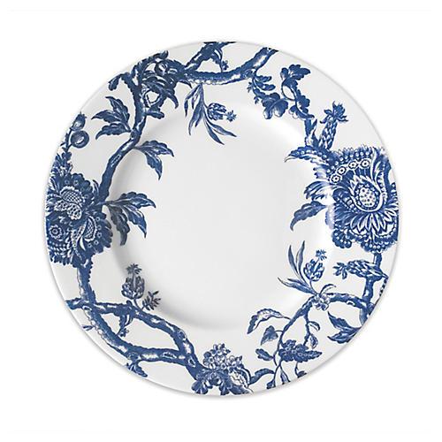 Arcadia Dinner Plate, White/Blue