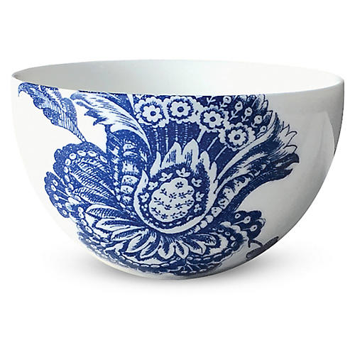 Arcadia Bowl, White/Blue