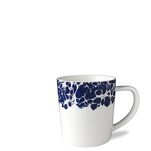 Marble Mug, White/Blue