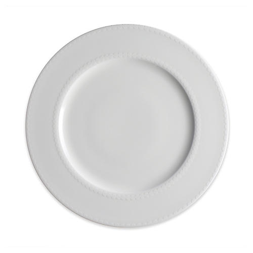 Pearls Dinner Plate, White