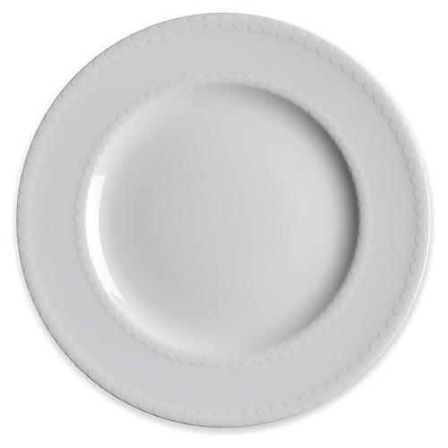 Pearls Salad Plate, White