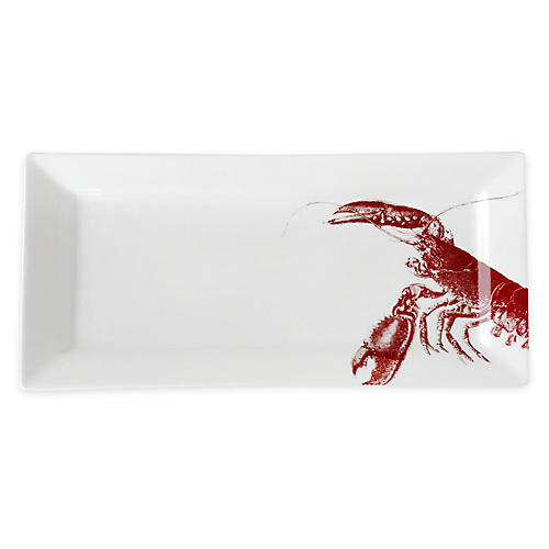 Lobster Serving Tray, Red