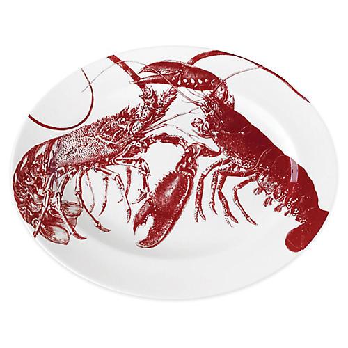 Lobster Serving Platter, Red