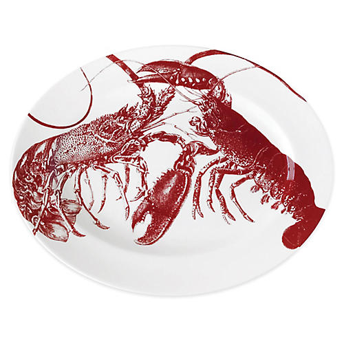 Lobster Serving Platter, Red