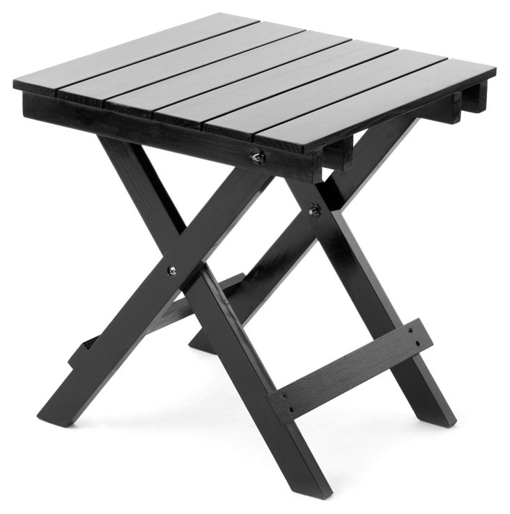 Outdoor Side Table, Black