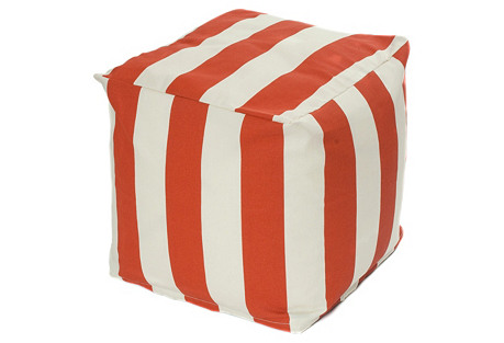 Cabana Outdoor Cube, Orange