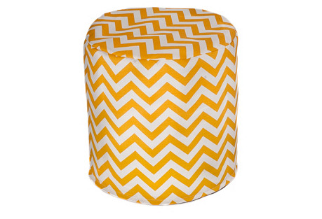 Chevron Outdoor Cylinder, Yellow