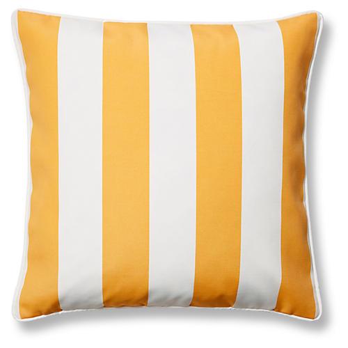 Cabana Stripe 20x20 Outdoor Pillow, Yellow