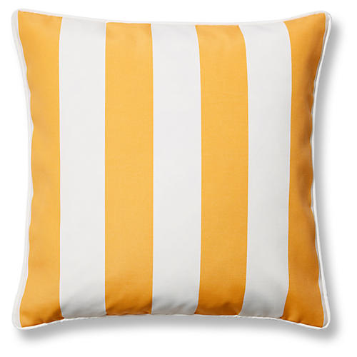 Cabana Stripe 20x20 Outdoor Pillow, Yellow